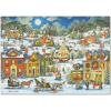 Festive Village Deluxe Holiday Card
