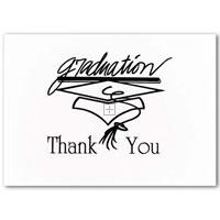 Black Graduation Thank You Cards - 20 Count