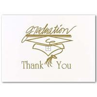 Gold Graduation Thank You Cards - 20 Count