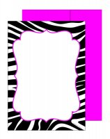 B & W Zebra Flat Card - 10 Count