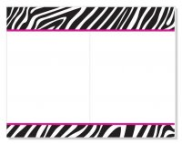B & W Zebra 2-Up Invitation - 20 Count