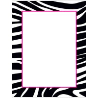 Black and White Zebra Letterhead - 20 Count