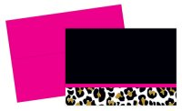 Leopard Print Note Card Kit - 24 Count