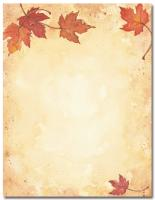 Fall Leaves Letterhead - 80 Count