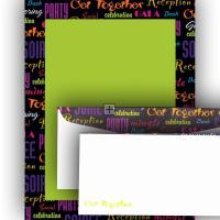 Celebrate Together Letterhead and Envelopes - 100 Count