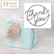Honor Series - Delicate Touch Silver Thank You Seals - 25 Count