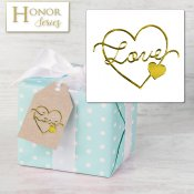 Honor Series - Delicate Touch Gold Love Seals - 25 Count