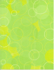 Lime Circles Letterhead - 40 Count