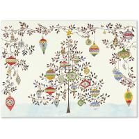 Watercolor Ornament Tree Deluxe Holiday Card