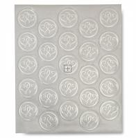 Platinum Heart Seals - 25 Count