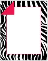 Zebra Stripes Double-Sided Letterhead - 50Count