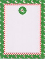 Whimsy Reindeer with Green Border - 25 Count