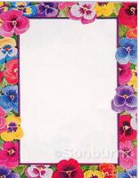Pansies Design Letterhead - 25 Count