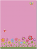 Pink with Flowers Letterhead - 40 Count