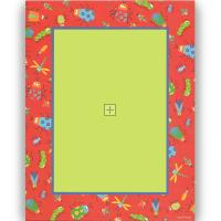 Red Border with Bugs Letterhead - 40 Count