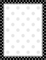 Black and White Dot Letterhead - 50 Count
