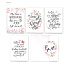 Floral Typography - 25 Cards