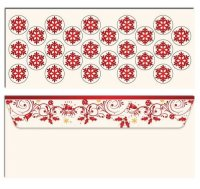 Classic Red Christmas #10 Envelope with Seals - 25 Count