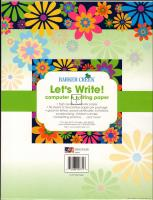 Italy Floral Letterhead - 50 Sheets