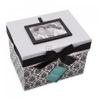 Black and White Damask Keepsake Card Box