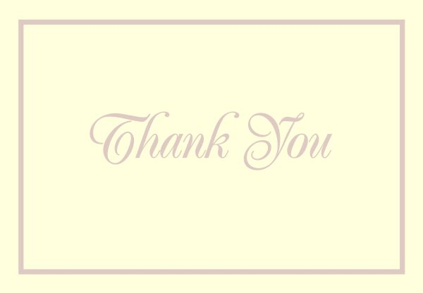 Pearl Border Foil Thank You Note Card - 50 Count