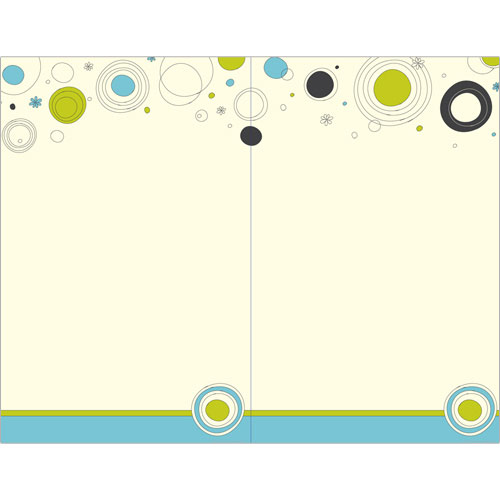 Outline Dots 2-Up Invitation