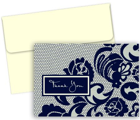 Lovely Lace Thank You Note Cards & Envelopes