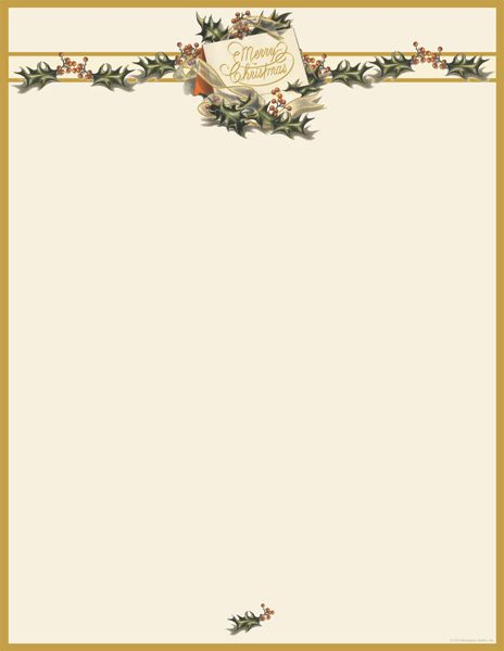 photo about Printable Christmas Letterhead titled Typical Xmas Holly Letterhead [DP2011872] : Designer Papers  ornamental printer paper Printable Paper Xmas stationery