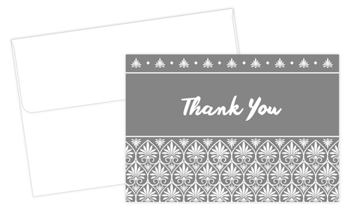 Acanthus Thank You Note - 24 Count