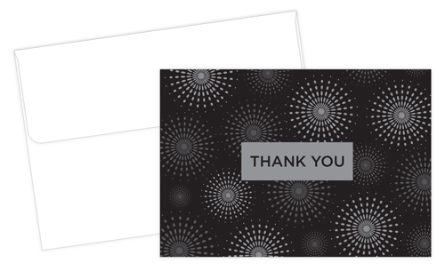 Grad Fireworks Thank You Note - 50 Count