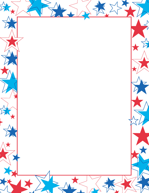 Red White and Blue Stars Letterhead