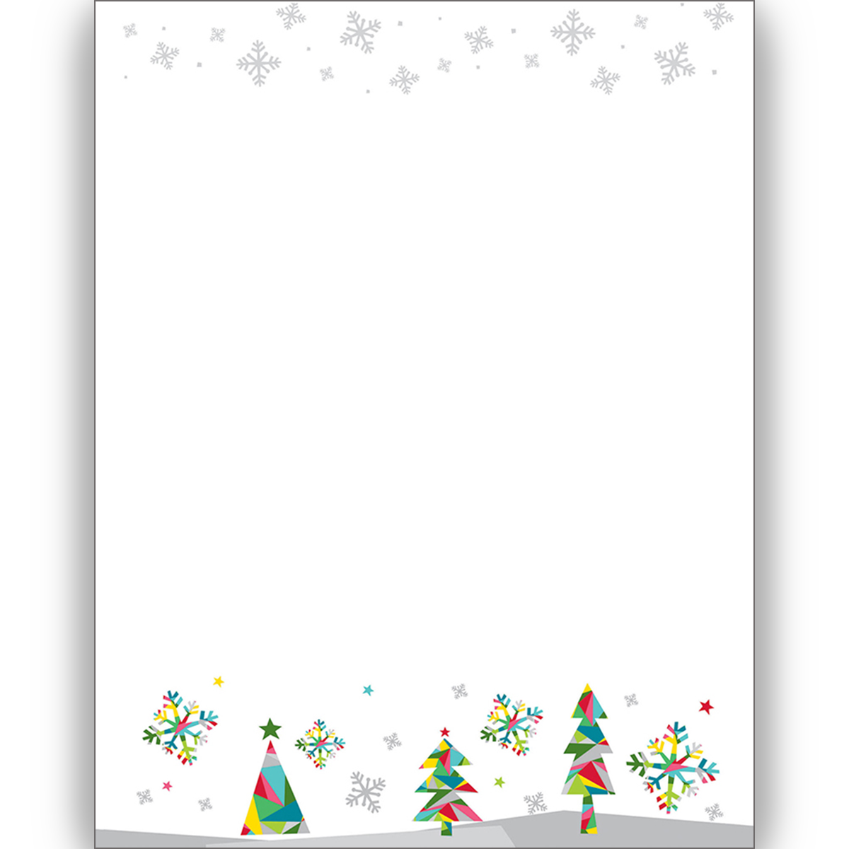 picture about Printable Christmas Letterhead named Prismatic Trip Letterhead