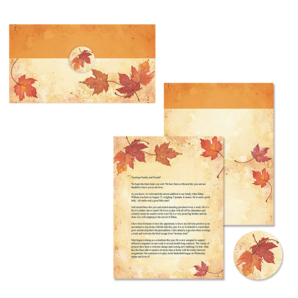 Fall Leaves Self Mailer - 50ct