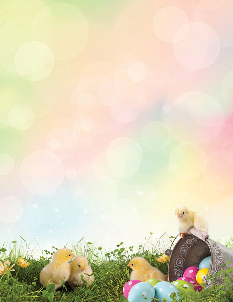 image regarding Easter Stationery Printable identified as Easter Chicks Letterhead