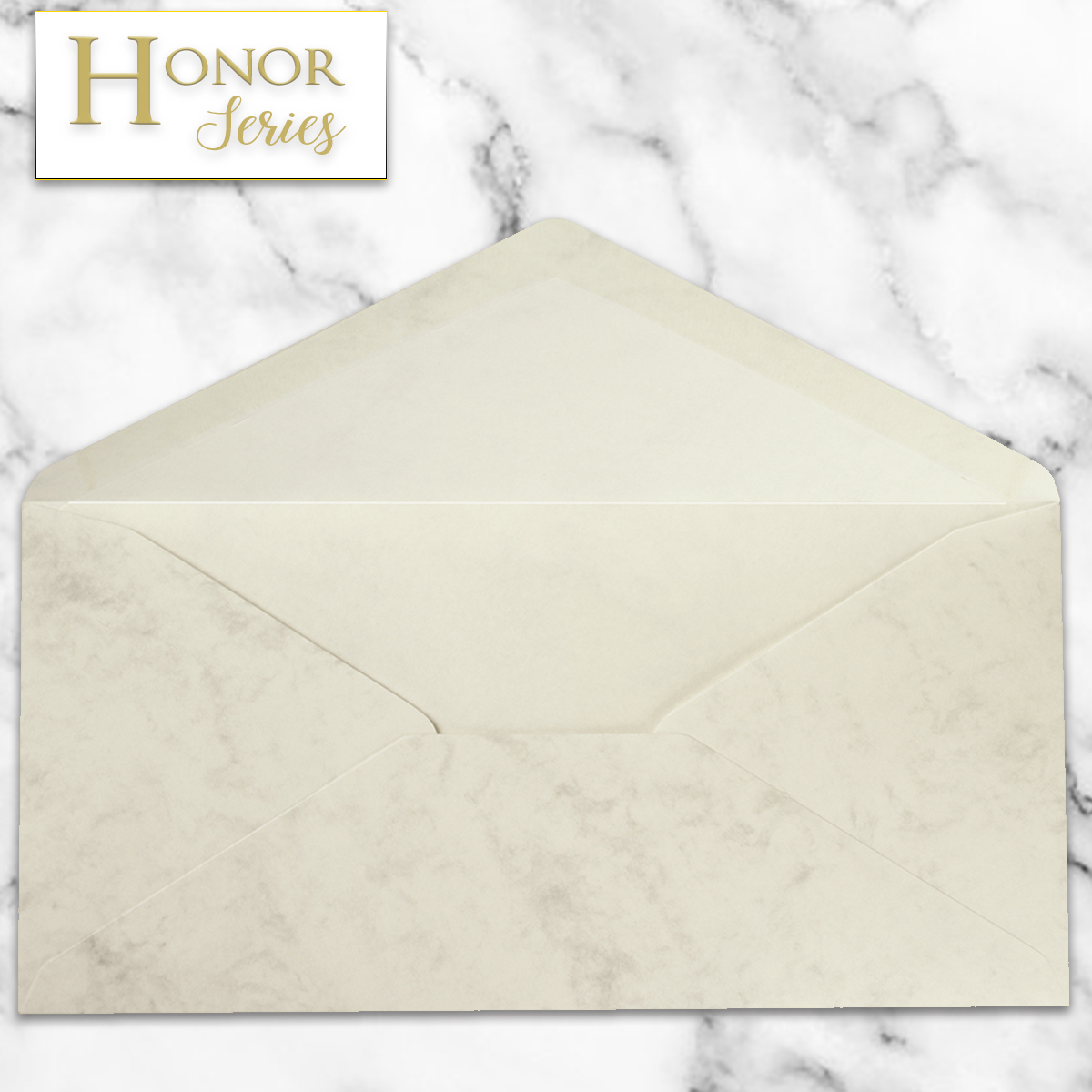 Honor Series - Marble Grey DL Envelope - 25 Ct