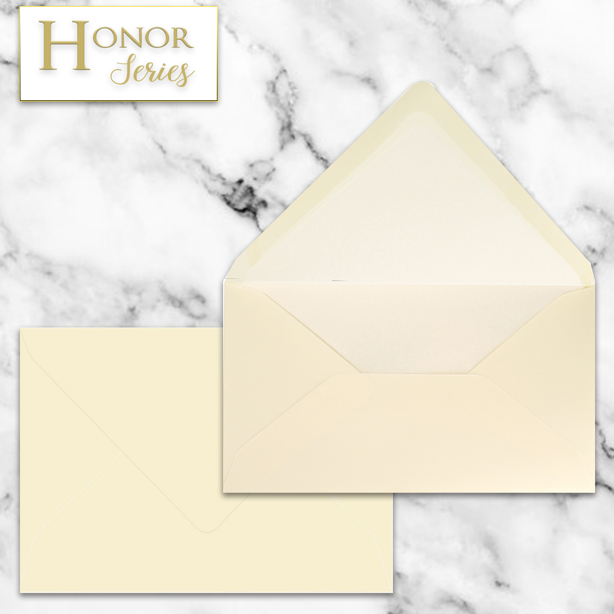 Honor Series - Light Cream EA5 Envelope - 25 Ct