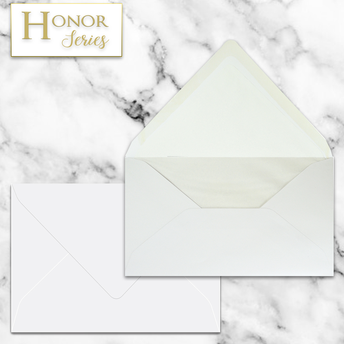 Honor Series - White EA5 Envelope - 25 Ct