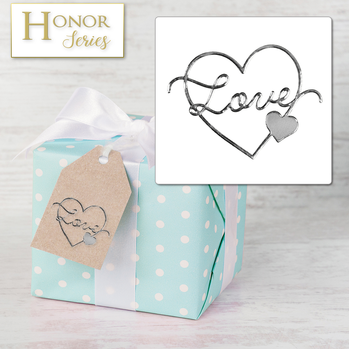 Honor Series - Delicate Touch Silver Love Seals - 25 Count
