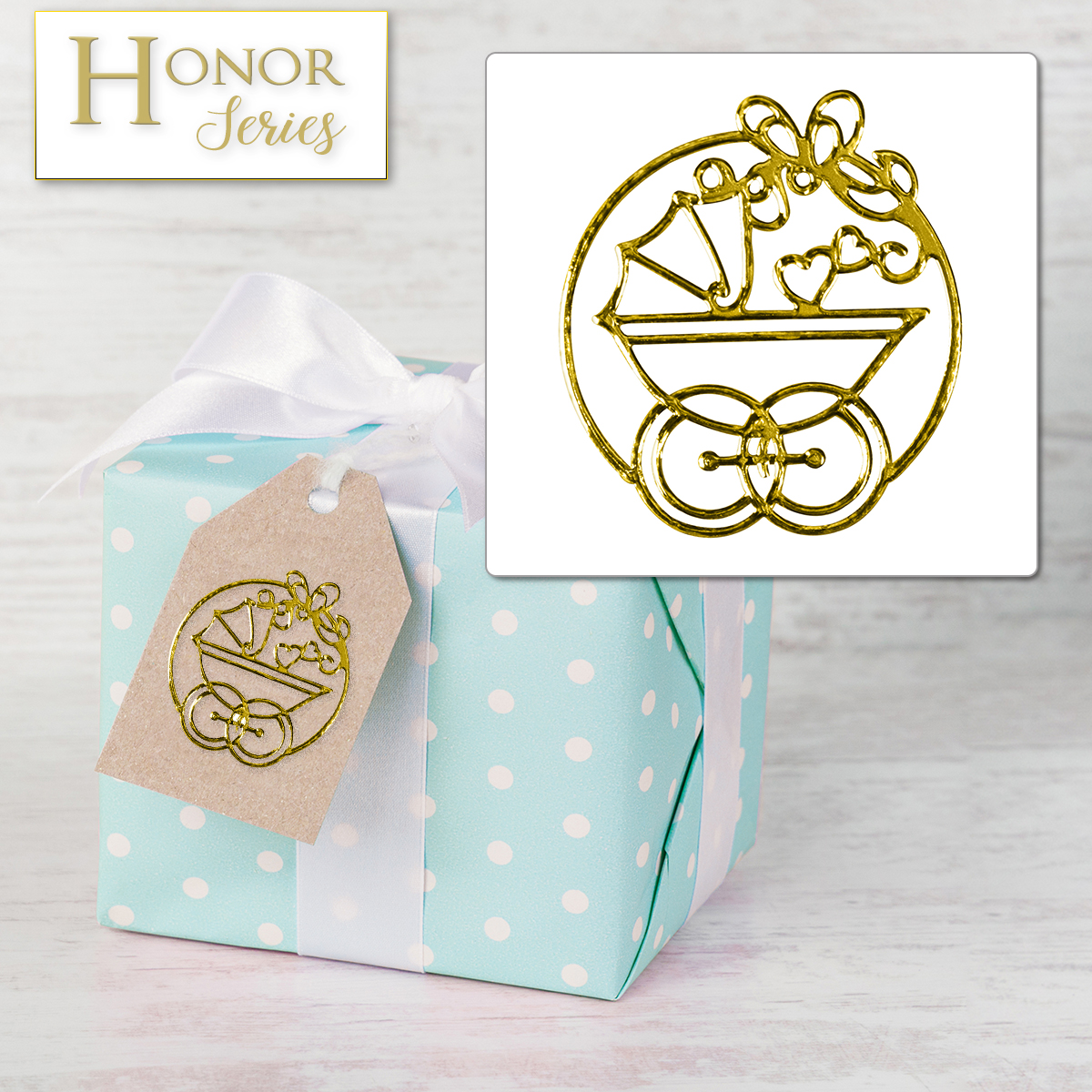 Honor Series - Delicate Touch Gold Baby Seals - 25 Count