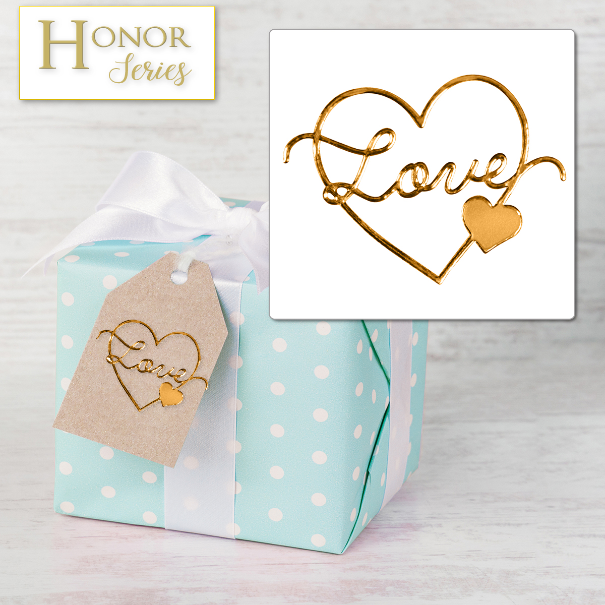 Honor Series - Delicate Touch Copper Love Seals - 25 Count