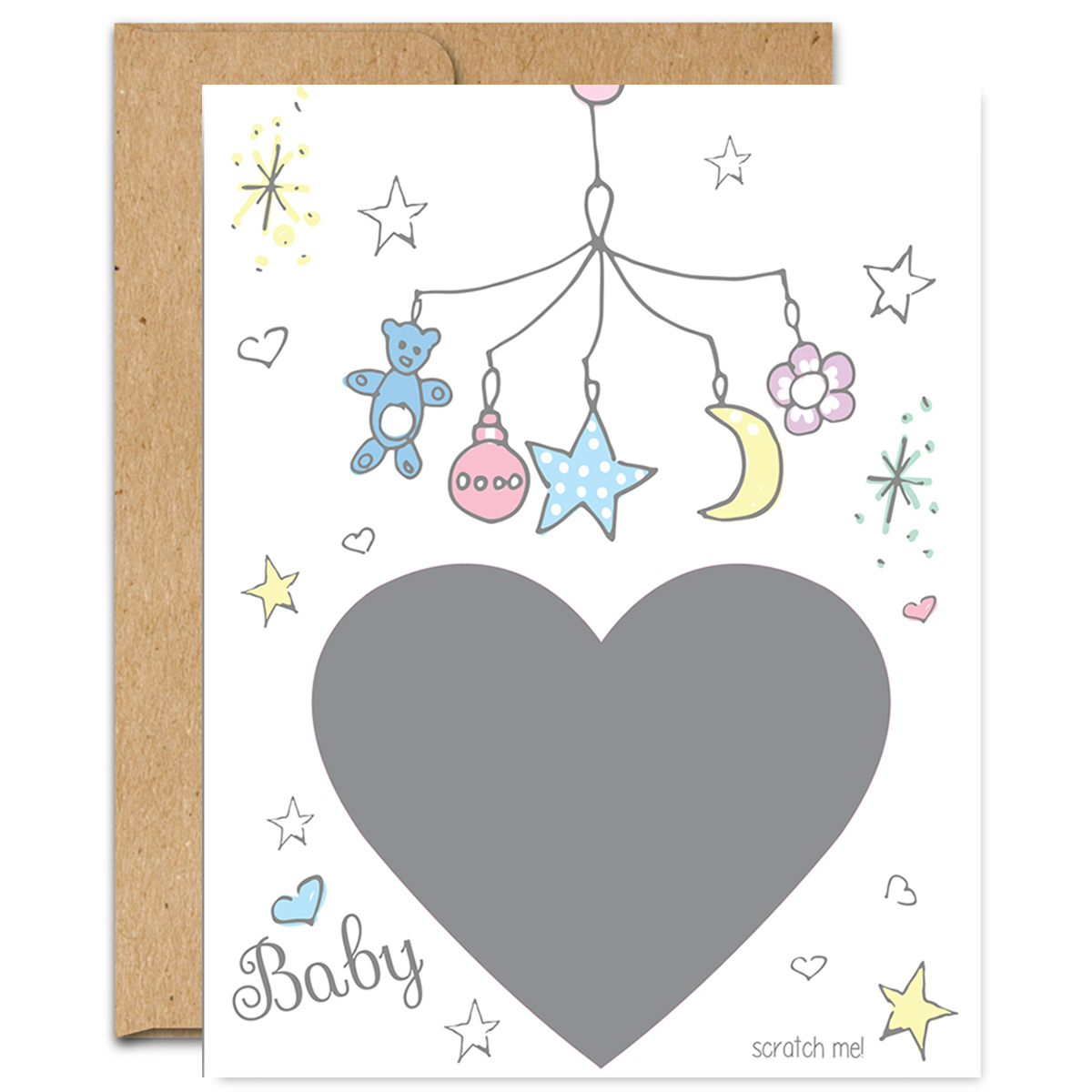 Baby Reveal Scratch Off Note Card *NEW