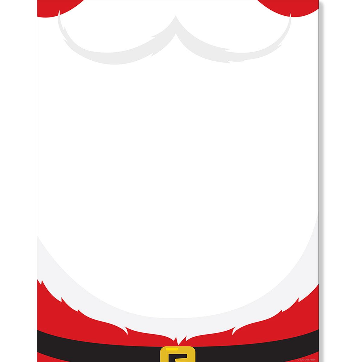 photo regarding Printable Christmas Stationery identify Santas Beard