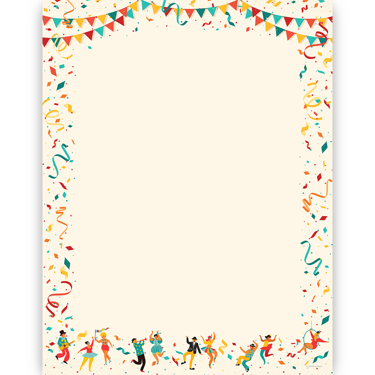 Great Papers 8.5x11 2014387 80 Count Birthday Party Letterhead