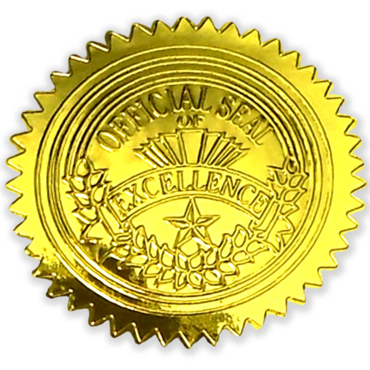 Gold Excellence Seals - 50 Count