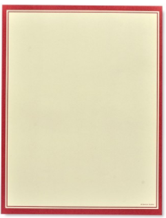 Red Border with Ivory - 100 Count