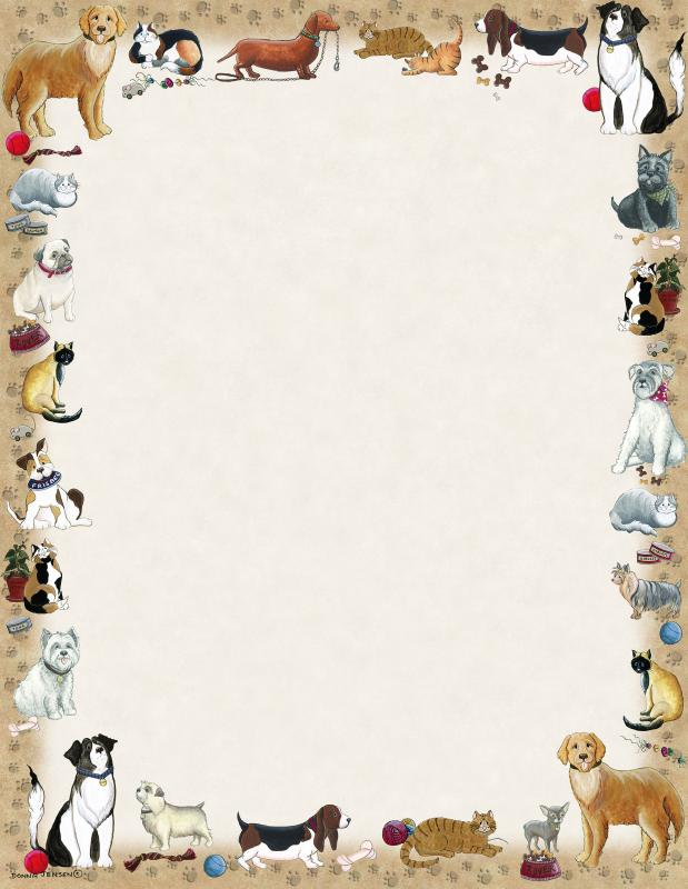 Paws and Claws Letterhead - 25Count