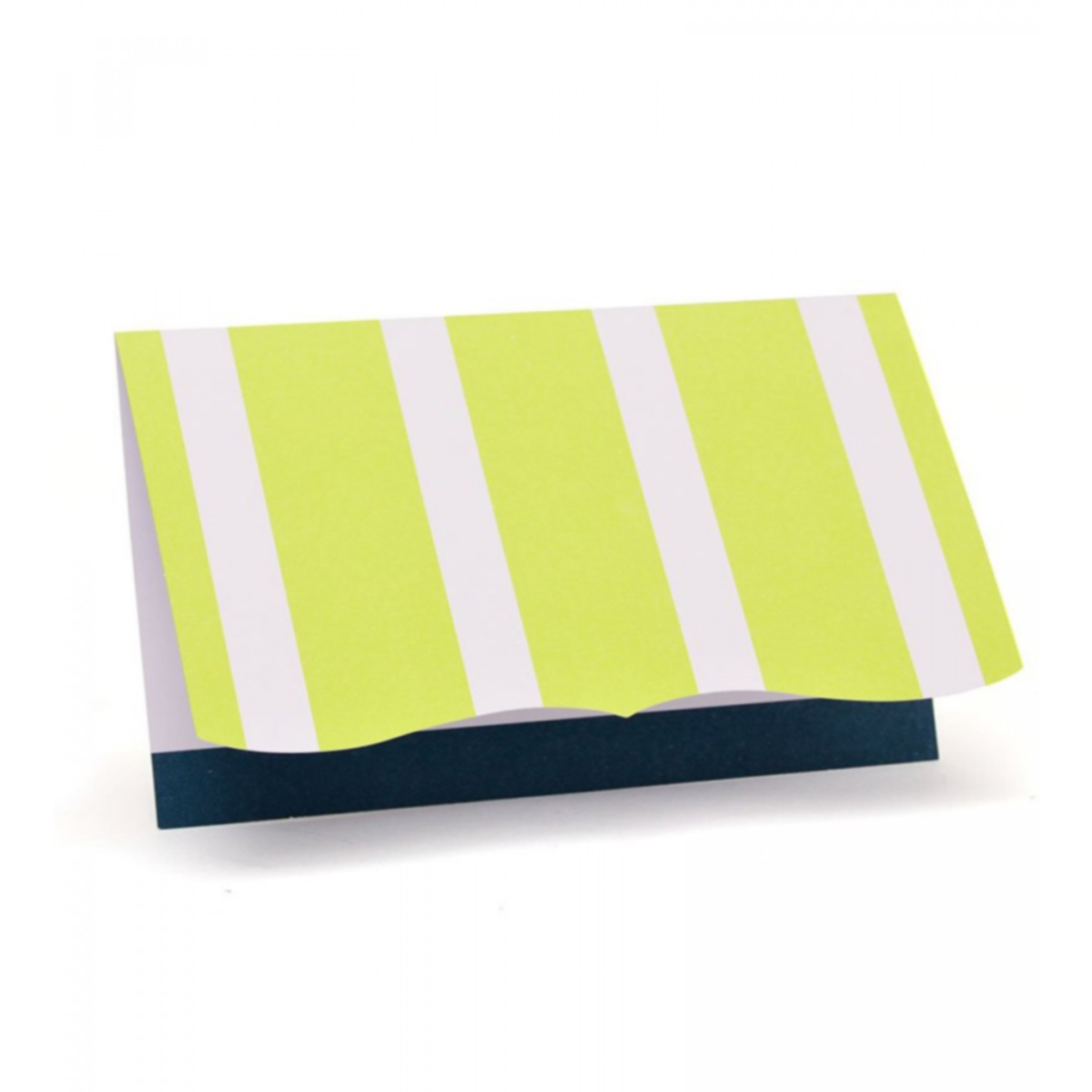 Navy & Lime Strip Note Cards - 10 Ct.