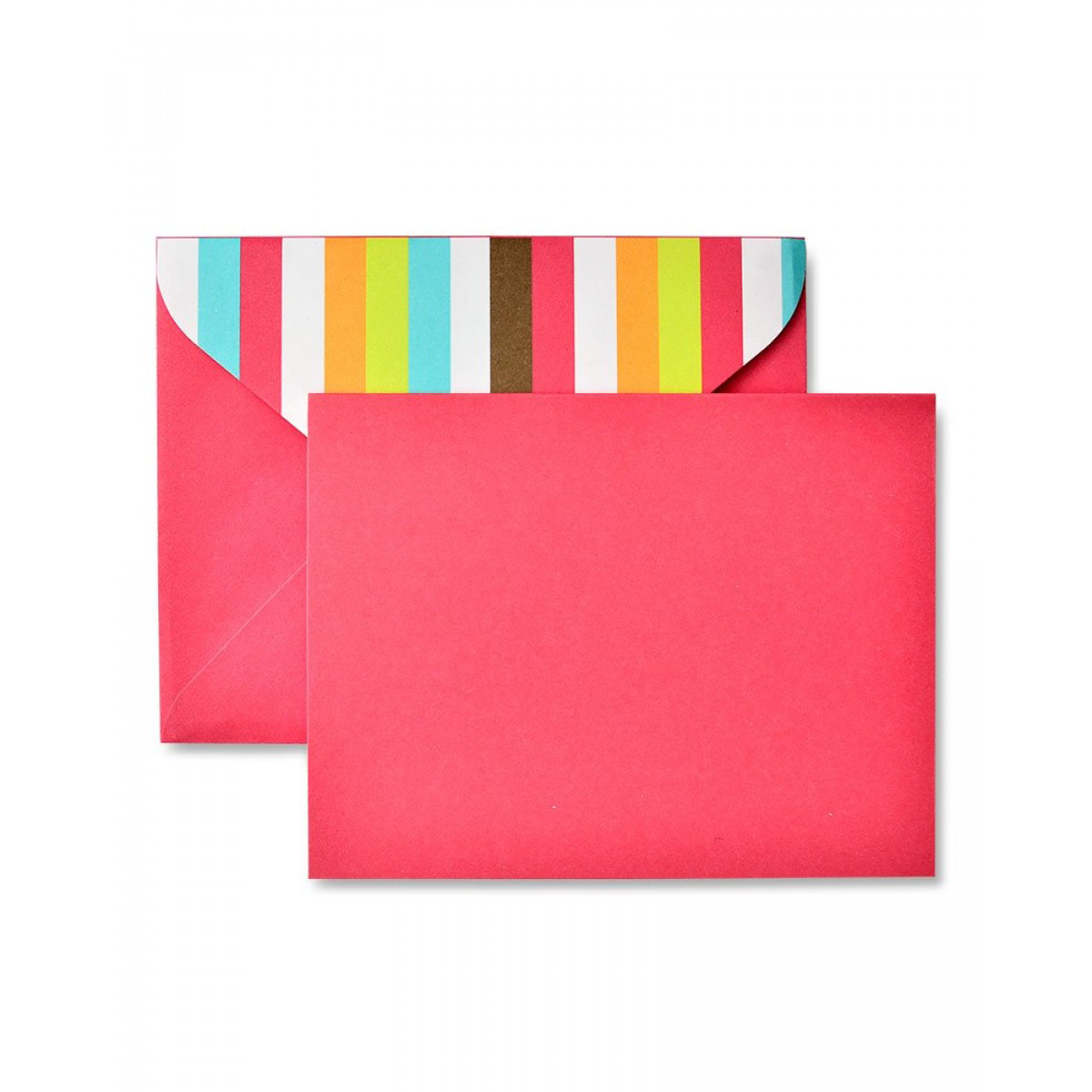 Bright Stripe Cherry Red Note Cards - 12 Count