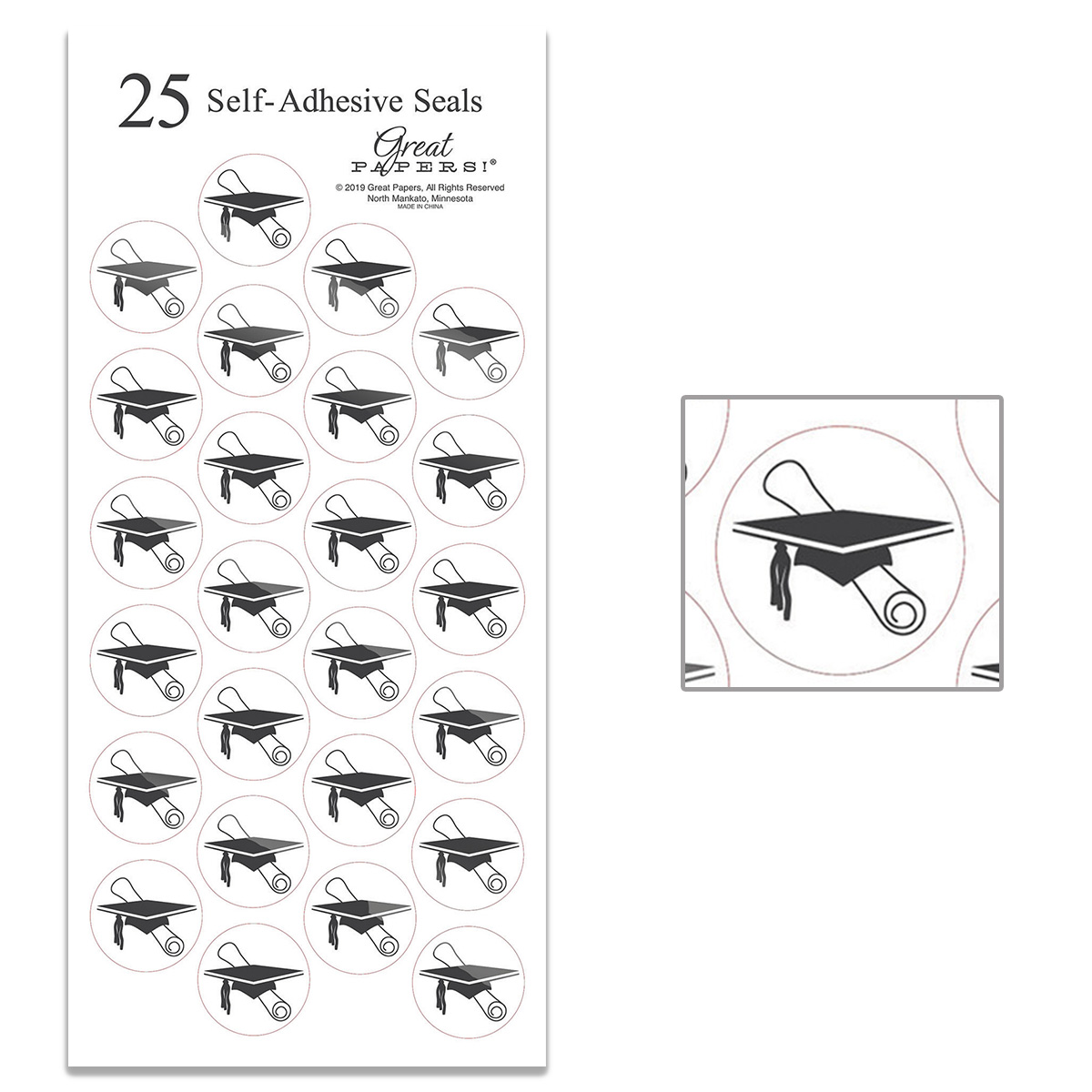 Black Grad Hat - 25 Count