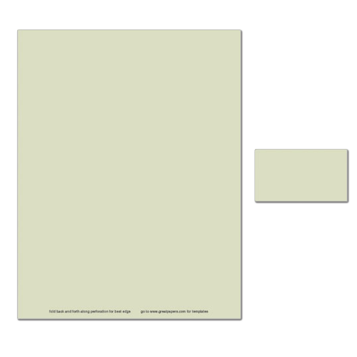 Executive Green Business Card - 250 Count